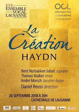 Affiche de l'évènement Ensemble Vocal de Lausanne – La Création de Haydn