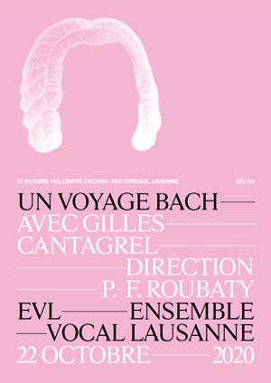 Affiche de l'évènement Ensemble Vocal de Lausanne – Un voyage Bach avec Gilles Cantagrel