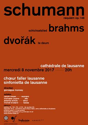 Affiche de l'évènement Choeur Faller – Schumann, Brahms et Dvorak