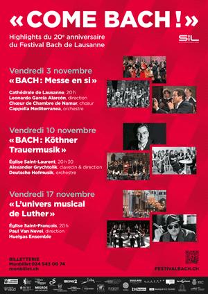 Affiche de l'évènement Festival Bach – Bach:Köthner Trauermusik