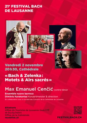 Affiche de l'évènement Festival Bach - concert 1 – Max Emanuel Cenčić: Bach & Zelenka