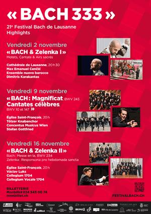 Affiche de l'évènement Festival Bach - concert 5 – Bach & Zelenka