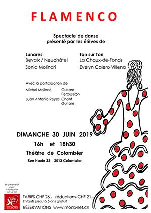 Affiche de l'évènement Spectacle de danse – Lunares et Ton sur Ton – Flamenco