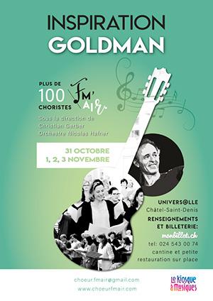 Affiche de l'évènement Choeur FM'AIR, dir. Christian Gerber & Orchestre Nicolas Hafner – Inspiration Goldman