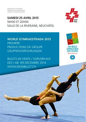 Affiche de l'évènement Première des productions de groupe – World Gymnaestrada 2015