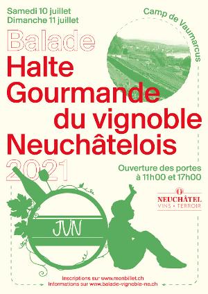 Affiche de l'évènement Edition 2021 – Halte gourmande du vignoble neuchâtelois