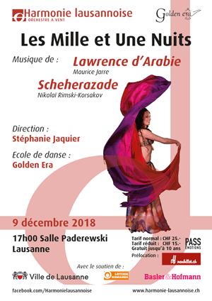 Affiche de l'évènement Harmonie Lausannoise – Les Mille et Une Nuits