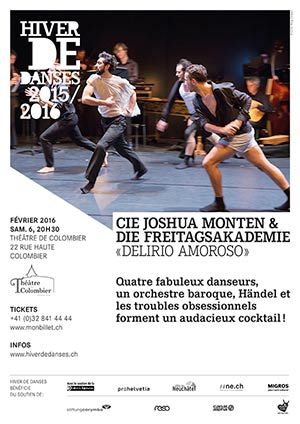 Affiche de l'évènement Hiver de Danses – Delirio Amoroso