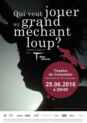 Affiche de l'évènement Isabelle Bonillo – Qui veut jouer au Grand Méchant Loup?