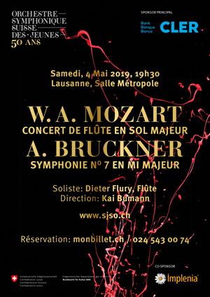 Affiche de l'évènement W.A. Mozart & A. Bruckner – Orchestre Symphonique Suisse des Jeunes