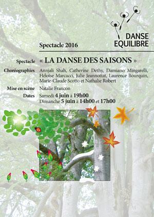Affiche de l'évènement Danse Equilibre – La Danse des Saisons