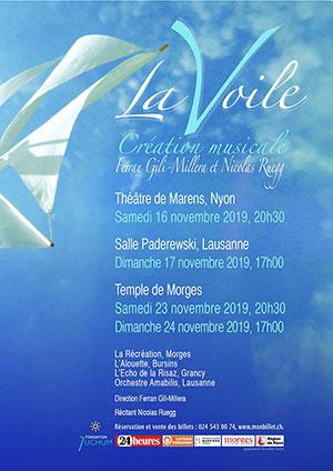 Affiche de l'évènement Création musicale – Ferran Gili-Millera & Nicolas Ruegg – La Voile