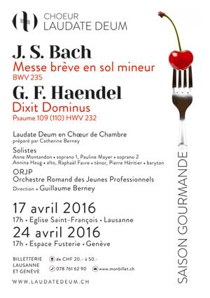Affiche de l'évènement Laudate Deum en chœur de chambre – Bach & Haendel
