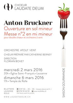 Affiche de l'évènement Laudate Deum – Anton Bruckner