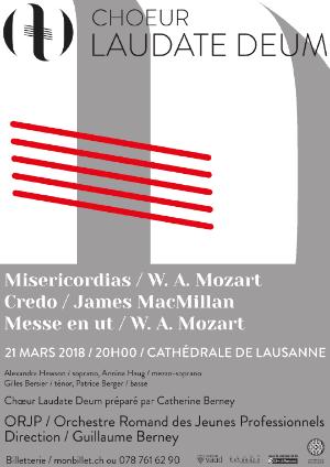 Affiche de l'évènement Laudate Deum – Mozart & MacMillan