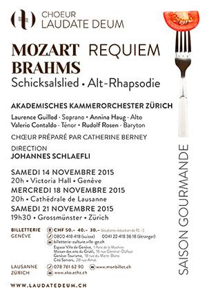 Affiche de l'évènement Laudate Deum – Requiem de Mozart, Brahms