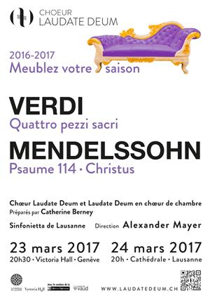 Affiche de l'évènement Laudate Deum – Verdi & Mendelssohn