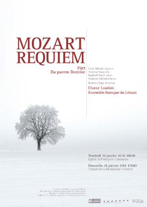 Affiche de l'évènement Chœur Laudate, Ensemble Baroque du Léman – Mozart, Requiem