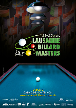 Affiche de l'évènement Édition 2018 – Lausanne Billard Masters