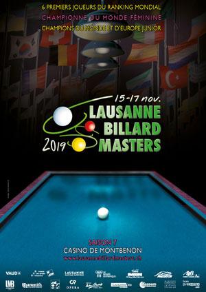 Affiche de l'évènement Édition 2019 – Lausanne Billard Masters