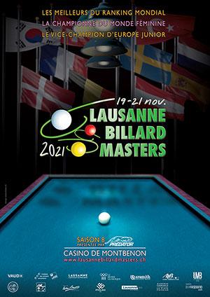 Affiche de l'évènement Édition 2021 – Lausanne Billard Masters