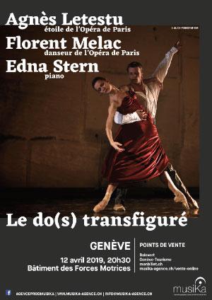 Affiche de l'évènement Le do(s) transfiguré – Agnès Letestu, Florent Melac, Edna Stern