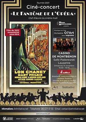 Affiche de l'évènement Ciné-concert – Le Fantôme de l'Opéra