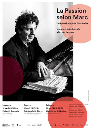 Affiche de l'évènement Création mondiale de Michaël Levinas – La Passion selon Marc