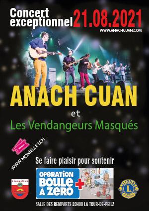 Affiche de l'évènement Concert en faveur de l'Opération Boule à Zéro – Anach Cuan et Albert de Gruffy