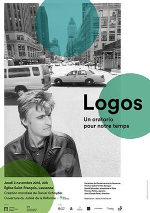 Affiche de l'évènement Une création mondiale de Daniel Schnyder  – Logos, un oratorio pour notre temps