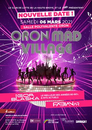Affiche de l'évènement 8e édition – Oron Mad Village