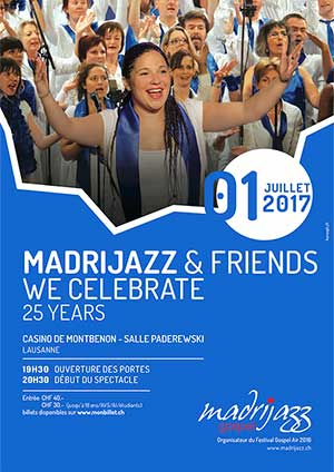 Affiche de l'évènement Madrijazz & Friends – WE CELEBRATE - 25 Years