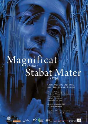 Affiche de l'évènement Chœur de la Cathédrale – Bach, Magnificat & Haydn, Stabat Mater
