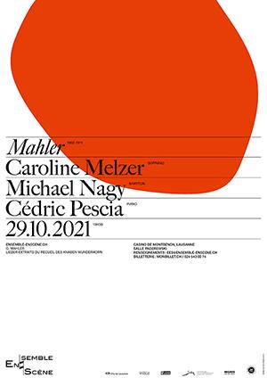 Affiche de l'évènement Ensemble enScène – Mahler   Lieder
