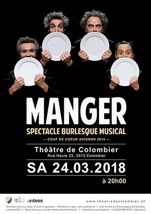 Affiche de l'évènement Théâtre burlesque musical – Manger