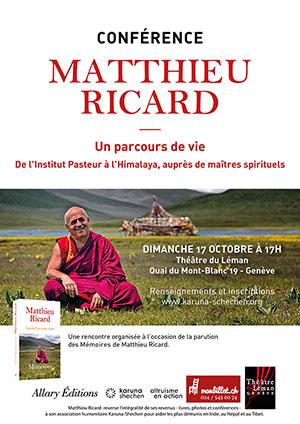 Affiche de l'évènement Matthieu Ricard - conférence – Parcours de vie