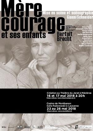 Affiche de l'évènement Une mise en scène de Gianni Schneider – Mère Courage et ses Enfants, Bertolt Brecht