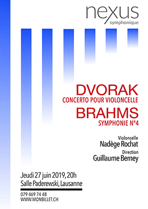 Affiche de l'évènement Nexus symphonique - sous la direction de Guillaume Berney – Dvorak & Brahms