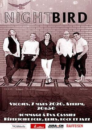 Affiche de l'évènement Concert hommage à Eva Cassidy – Nightbird