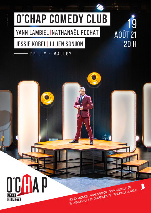 Affiche de l'évènement Programmation O'Chap: soirée stand up – O'Chap Comedy Club