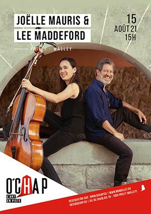 Affiche de l'évènement Programmation O'Chap: musique classique & fusion-jazz – Duo Maddeford-Mauris