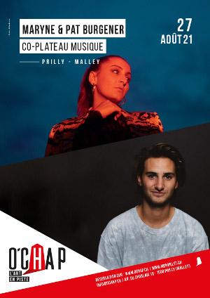 Affiche de l'évènement Programmation O'Chap: co-plateau musique – Maryne & Pat Burgener