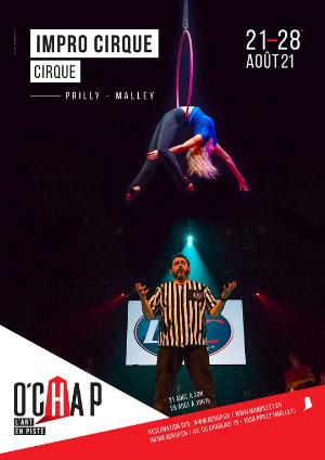 Affiche de l'évènement Programmation O'Chap: cirque – Impro cirque