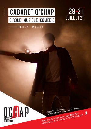 Affiche de l'évènement Programmation O'Chap: cirque et danse – Cabaret O'Chap – spectacle d'inauguration
