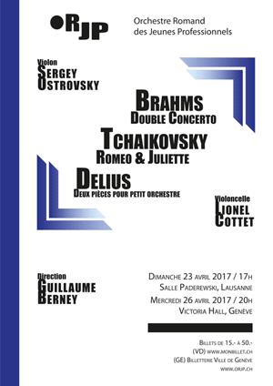 Affiche de l'évènement Orchestre Romand des Jeunes Professionnels – Delius, Brahms et Tchaikovsky