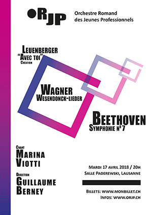 Affiche de l'évènement Orchestre Romand des Jeunes Professionnels – «Avec toi», un concert avec Marina Viotti