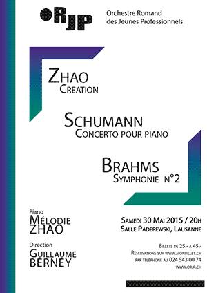Affiche de l'évènement ORJP – Mélodie Zhao, Schumann, Brahms