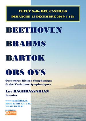 Affiche de l'évènement ORS & OVS - direction Luc Baghdassarian – BBB - Beethoven, Brahms, Bartók