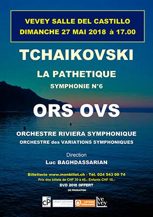 Affiche de l'évènement ORS & OVS – Tchaïkovski, LaPathétique