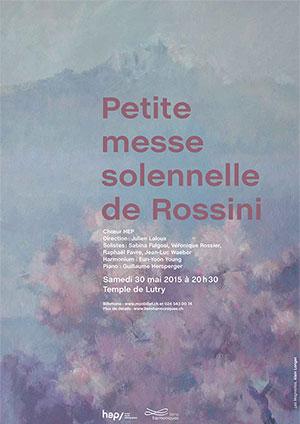 Affiche de l'évènement Chœur HEP – Petite messe solennelle de Rossini